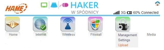 3G WiFi Router - Menu Ustawień