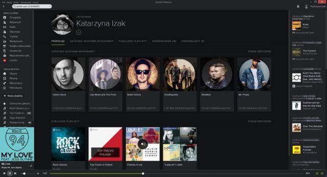 Spotify - profil publiczny użytkownika