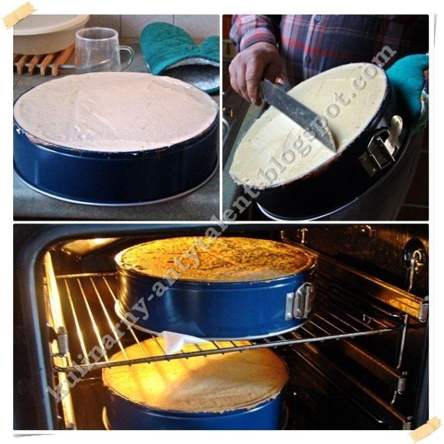 Tort kawowy - wypiekanie ciasta