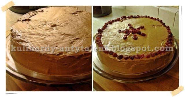 Tort kawowy - dekorowanie