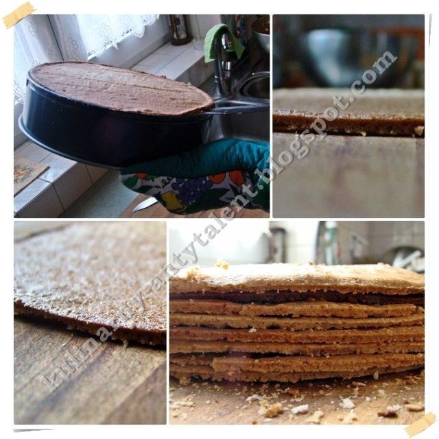 Tort kawowy - gotowe placki