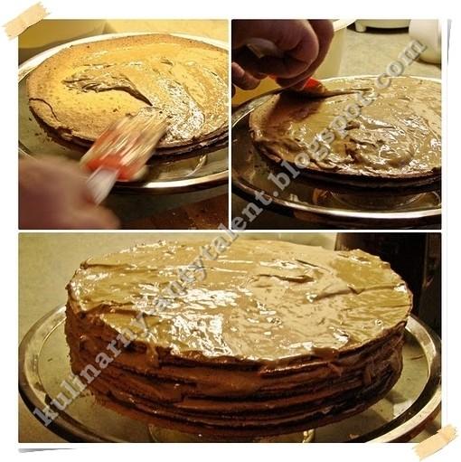 Tort kawowy - smarowanie warstw